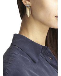 Iosselliani - Gray Fringed Drop Earrings - Lyst