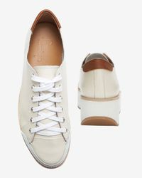 Flamingos - Natural Lace-up Platform Sneaker: White - Lyst