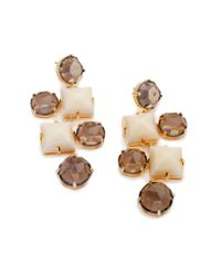 Lele Sadoughi | Metallic Abacus Chandelier Earrings, Sand | Lyst