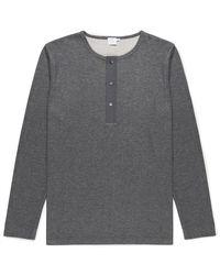 Sunspel | Gray Men's Cellulock Long Sleeve Henley T-shirt for Men | Lyst