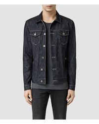 AllSaints - Blue Amaya Denim Jacket for Men - Lyst