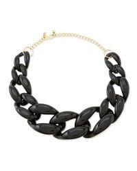 Kenneth Jay Lane | Black Link Necklace | Lyst