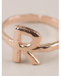 Bjorg - Metallic Alphabet R Ring - Lyst