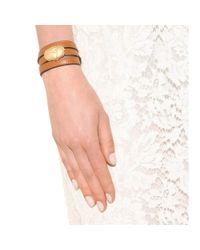 Valentino | Metallic Scarab Leather Wrap Bracelet | Lyst