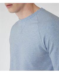 Reiss - Blue Mitchell Marl Sweatshirt for Men - Lyst