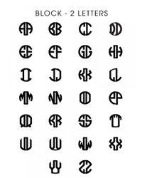 BaubleBar | Metallic Metal Block Letter Monogram | Lyst