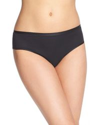 Hanro - Black 'soft Touch' High Cut Briefs - Lyst