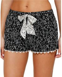 Kensie - Black Summer Safari Boxer Shorts - Lyst