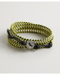 Chan Luu - Yellow And Black Leather Center Chain Wrap Bracelet - Lyst