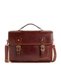 Brooks Brothers - Brown Jw Hulme Brief Bag for Men - Lyst