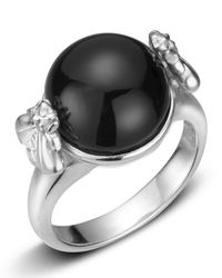 Slane | Metallic Onyx Sterling Silver Bee Ring | Lyst