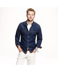 J.Crew | Blue Selvedge Indigo Denim Shirt for Men | Lyst