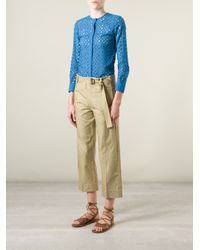Isabel Marant - Blue Perforated Top - Lyst