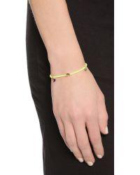 Shashi - Yellow Neon Lilu Bracelet - Orange - Lyst