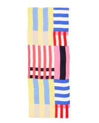 kate spade new york | Multicolor Flage Stripes Oblong Scarf | Lyst