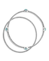 David Yurman - Metallic Color Classics Bangles With Turquoise - Lyst