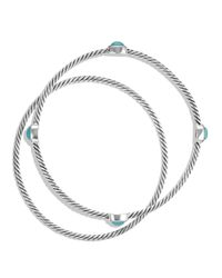 David Yurman | Metallic Color Classics Bangles With Turquoise | Lyst