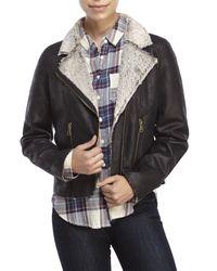 Raison D'etre - Black Faux Shearling Jacket - Lyst