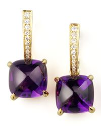 Frederic Sage - Metallic Clip Amethyst Diamond Drop Earrings - Lyst