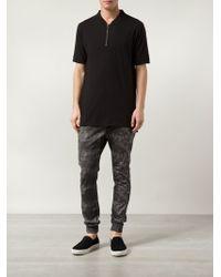 Zanerobe - Black Zip-Detail T-Shirt for Men - Lyst