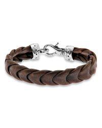 Platadepalo | Brown Buffalo Leather Bracelet for Men | Lyst