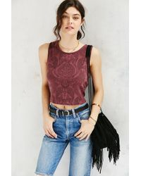 Truly Madly Deeply | Purple Everday Cropped Tank Top | Lyst