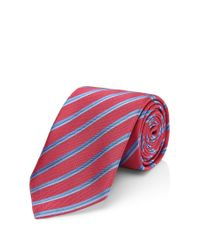 HUGO - Pink 'tie 7 Cm' | Regular, Silk Striped Tie for Men - Lyst