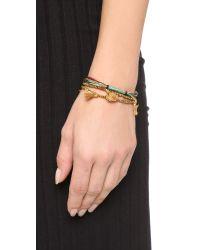 Shashi - Glaiza Bracelet - Black - Lyst