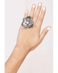 Nasty Gal | Metallic Full Bloom Flower Ring | Lyst