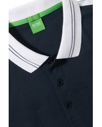BOSS Green Blue 'paule'   Slim Fit, Moisture Manager Cotton Blend Polo Shirt for men