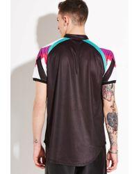 Forever 21 - Black Sik Silk Baseball Shirt for Men - Lyst