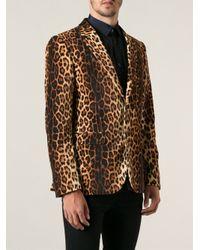 Moschino | Multicolor Leopard Print Blazer for Men | Lyst