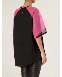 Christopher Kane - Black Contrast Tulle Top - Lyst
