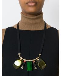 Marni | Green Multiple Pendant Necklace | Lyst