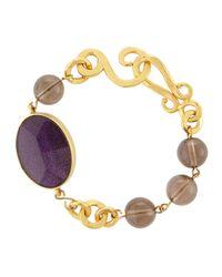 Stephanie Kantis | Metallic Hammered Link & Faceted Oval Bracelet | Lyst