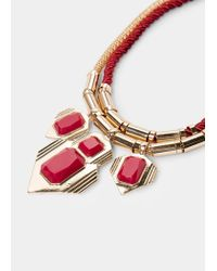 Violeta by Mango | Red Mixed Double Necklace | Lyst