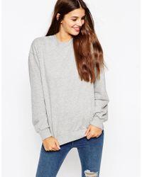 ASOS | Gray The Ultimate Boyfriend Sweatshirt | Lyst