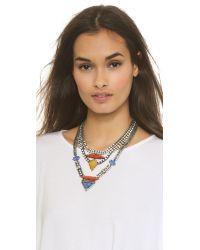 DANNIJO | Multicolor Tipton Crystal Chain Necklace | Lyst