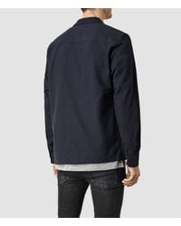 AllSaints - Black Billiard Shirt for Men - Lyst