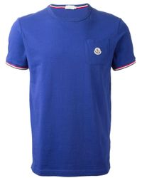 Moncler | Blue Classic T-Shirt for Men | Lyst