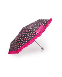 Forever 21 | Black Betsey Johnson Leaf Print Ruffled Umbrella | Lyst