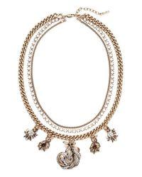 Allison Reed - Metallic Three Strand Feather Necklace - Lyst