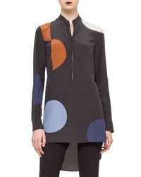 Akris Punto - Black Polka-dot Zip-front Tunic - Lyst