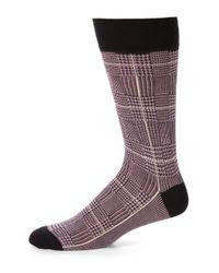 Saks Fifth Avenue - Purple Cotton-blend Dress Socks for Men - Lyst