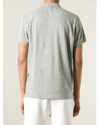 Moncler | Gray Classic Polo Shirt for Men | Lyst