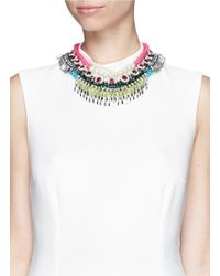 Venna - Multicolor Crystal Spike Chain Necklace - Lyst
