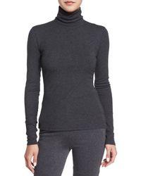 Theory - Gray Eliezer Roll-Neck Sweater - Lyst