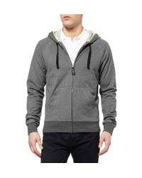 Bottega Veneta | Gray Fleecebacked Jersey Hoodie for Men | Lyst