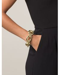 Vaubel - Metallic Large Link Oval Bracelet - Lyst