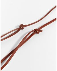 ASOS | Red Leather Necklace With Burnished Copper Anchor for Men | Lyst